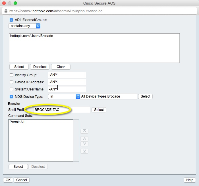 Setting up Brocade Switches to do Tacacs+ authentication